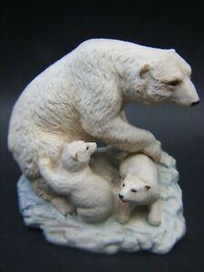 Antique Aynsley Polar Bear & Cubs Fine Porcelain Figurines England 30's Rare VGC
