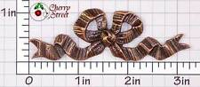 Ox Copper Plated Brass 1214co2 2 Lrge Ribbon Bow Stampings