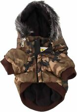 Waterproof Pet Dog Clothes Winter Fleece Warm Parka Coat Hooded Jacket Camo S, J