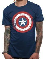Official Captain America Shield T Shirt Marvel Distressed Unisex S M L XL XXL