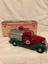 CONOCO 1937 CHEVY TANKER 1/25TH DIE CAST BANK WITH BOX