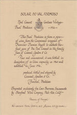 1926 SOLAR DO VAL FORMOSO Bual Madeira, vin etiquette/wine label/vinho rótulo
