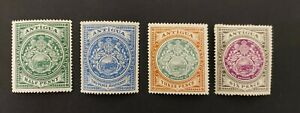 Antigua 1908-12, 4x mint stamps mh