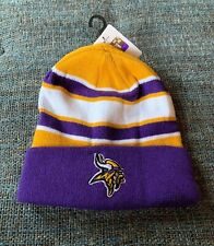 Nwt NFL Minnesota Vikings Beanie Stocking Cap Mens Ones Size BB1