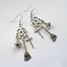 Wicca Charm, Pagan, Witches Pentacle Earrings