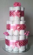 3 Tier Baby Girl Pink  Nappy Cake New Mum Baby Shower Gift/Present
