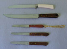Vintage Lady Kay Eversharp lot set of 5 stake meat carving slice knives