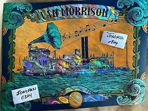 VAN MORRISON NASHVILLE 2017 LAVA FOIL PRINT POSTER AE SIGNED S/N #/35 SHIPS 2DAY