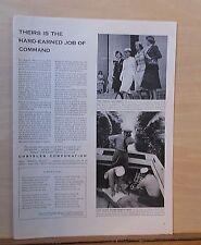 1954 magazine ad for Chrysler - Defense Advisory Com. for Women, Coast Guard
