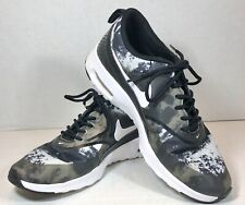 Nike Air Max Thea Black Grey White Running Shoes Women's Size 7.5 599408-007
