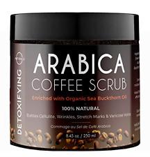 O Naturals Coffee Arabica Anti-Cellulite Exfoliating Dead Sea Salt Scrub For & &