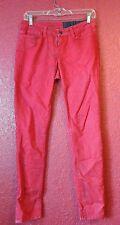 Resin NY Lariat Ankle Skinny Jeans Distressed red dan funderburgh sz 26 lot 004