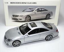 MERCEDES-BENZ CL 63 cl63 AMG c216 ARGENTO SILVER ARGENTO Plata Autoart 76168 1:18