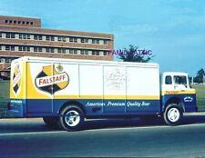 8.5X11 PHOTO FALSTAFF BEER TRUCK ARNTZ DISTRIBUTOR COMPANY MUSKEGON MI 1960-70s