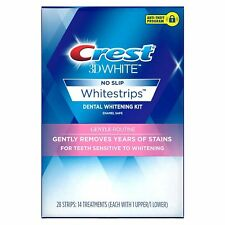 New Crest 3D WhiteStrips Gentle Routine 28 Strips /14 Total Treatments 03/19