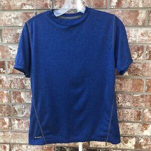 Starter Boys Short Sleeve Dri-Star T-Shirt Youth Size Medium Blue Gray Tee