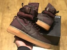 NIKE SF AIR FORCE 1 HIGH BURGUNDY RED UK 7.5 EUR 42 US 8.5 NEW WINTER BOOTS