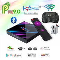 H96 MAX TV Box 32G Android9.0 Dual WiFi RK3318 Quad Core 4K Player Keyboard Lot