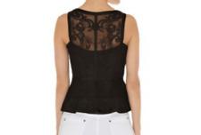 Karen Millen  Sleeveless Top TQ006 Black Size UK 8 EU 36