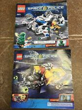 LEGO Space Police Instruction Booklets - Lot Of 2 - Lego 5971 & 5972