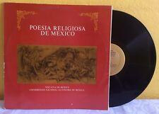 UNAM VOZ VIVA DE MEXICO LITERATURE AND POETRY 2 X LP POESIA RELIGIOSA DE MEXICO