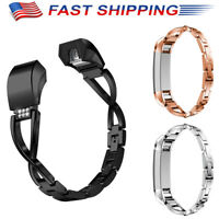 Luxury Rhinestone Stainless Steel Watch Band Wrist Strap For for Fitbit Alta NEW