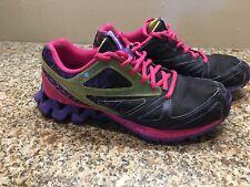 Reebok Zigtech Womens Size 8.5 Black Purple Pink Green Trail Running 1658346f8