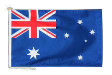 More details for australia flag with rope and toggle - various sizes