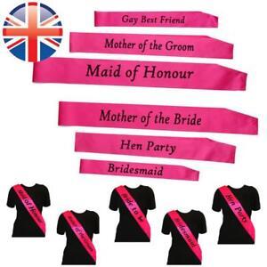 *UK Seller* Pink Velvet Hen Party Night Out Girls Sash