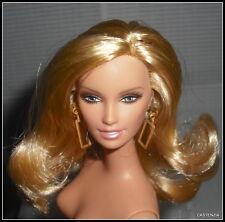 NUDE BARBIE MATTEL DOLL CITRUS OBSESSION  GOLDEN BLONDE HAIR LARA FOR OOAK