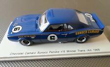 SPARK 1:43 MODEL CHEVROLET CAMARO SUNOCO PENSKE WINNER TRANS-AM 1968