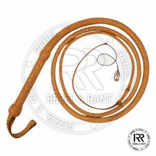 long 08 Tressé Tissage Bull Whip Noir Fouet En cuir véritable 3 FT environ 0.91 m