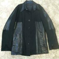 Y'S Leather Switching Jacket Size L