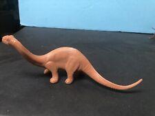 1950's Marx Dinosaur Playset Tangerine/Burnt Orange Color Brontosaurus