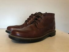 Mens M&S Brown Leather Lace Up Ankle Boots Shoes Size UK 6