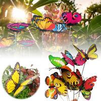 10/ 24 Gartendeko Schmetterling Balkon Deko Pflanzenstecker Pflanzkastenstecker