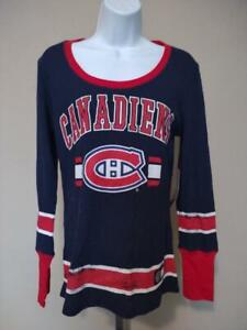 New Montreal Canadiens Womens Size L Large Blue G-III Shirt