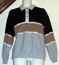 Knights Bridge Vintage 70's-80's Collared Pullover Sweatsshirt Mens Large