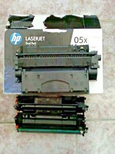 HP LaserJet P2055 Black Toners x3  1 x05X 2 x 05A CE505A/X