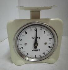 40er 50er Küchenwaage Krups Emaille bis 10 kg. Vintage 40s 50s