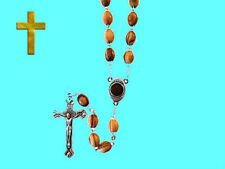 Medieval Crusade Israel Olive Wood Holy Cross Jerusalem Christ Jesus God Rosary