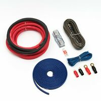 4 GAUGE OFC WIRING KIT RED OVERSIZED 25MM2 PURE COPPER CABLES 3000W
