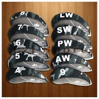 USA Ship 10PCS 4#-LW Golf Iron Covers Headcovers For Cobra Taylormade Callaway