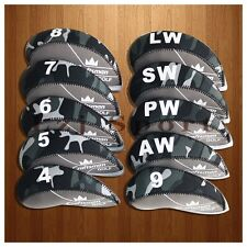 USA 10PCS 4#-LW Grey Golf Iron Covers Headcovers For Cobra Taylormade Callaway