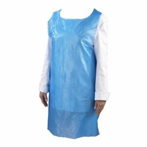Blue Disposable Aprons. Pack of 100. Apron. Polythene Aprons. Clothing Cover.PPE