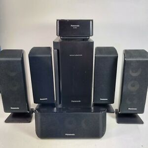 Panasonic Surround Sound Speakers and Subwoofer With Wireless Transmitter Unit