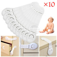 10 X Baby Kids Child Safety Locks Proof Cabinet Drawer Fridge Pet Cupboard Door