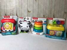 Fisher Price Peek-a-boo Giggles Roscoe-Baby First Blocks-Rock -a-Stack -telephon