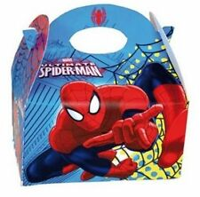 6 Spiderman Party Boxes Official Branded Loot Lunch Cardboard Gift Food