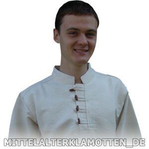 Mittelalterhemd Baumwolle handgewebt Mittelalter Hemd Herren Gewand S-XXXL 2 Fb.
